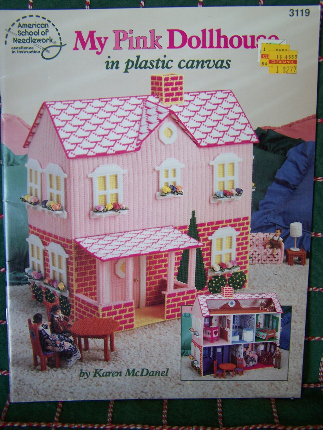 My Pink Dollhouse Plastic Canvas Patterns Doll House Furniture Bedroom Nursery Living