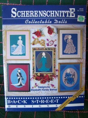 New Scherenschnitte Collectable Dolls Paper Craft Patterns Back Street 01036