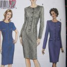Uncut Sewing Pattern Vogue 7666 Slim Dress Dart Tucks Semi Fitted 12 14 16