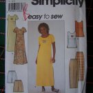 Uncut Simplicity Sewing Pattern 8566 Misses Dress Top Pull On Pants Shorts12 14 16