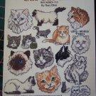 80s Vintage Cross Stitch Patterns Mini Series # 13 Cats Cats Cats Kitten