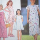 New Girls 12 14 16 Sundress Flared SKirt Dress Puff Sleeve 2 Length Sewing Pattern 8547