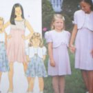 Girls 3 4 5 6 Empire Waist Dress & Bolero Uncut Simplicity Sewing Pattern 8548