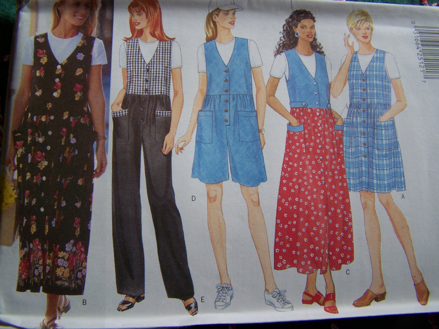 Ladies V Jumper Dress Jumpsuit Top 16 18 20 22 Sewing Pattern 4879
