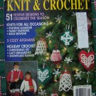 1991 McCalls Christmas Knit & Crochet Patterns Ornaments Afghans Clothing