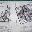 Vintage Mail Order Log Cabin Pillow Sewing Pattern # 2448