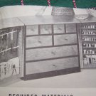 U Bild Vintage Mid Century Woodworking Plans Pattern Sewing Center Storage Cabinet