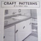 U Bild Vintage Mid Century Modern Lavatory Counter Top and Enclosure wood working pattern 271