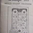 Vintage Mail Order Embroidery pattern transfers 50 State Hexagon Quilt patterns 533