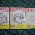 VTG Aunt Marthas Hot Iron Transfers Lot 3083 3542 3737