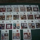 21 Leaflet Lot Cricket Collection Cross Stitch Patterns 80's & 90's
