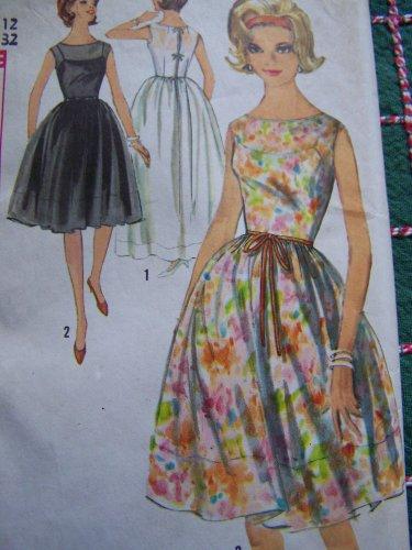 VTG One Piece Dress & Slip Sundress Sheer Overlay Sewing Pattern 5363