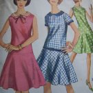 VTG Dress Dropped Waist Flared Skirt Sewing Pattern 6341