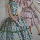 VTG Full Skirt One Piece Sleeveless Dress Sewing Pattern 1564