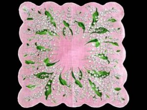 Vintage Lily of the Valley Floral Handkerchief