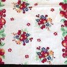 Unused Vintage Fruit & Floral Kitchen Towel