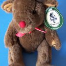 "13"" Geppeddo PLUSH MINK COLORED ADORABLE REINDEER  with Tag"