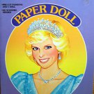 VINTAGE 1985 GOLDEN PRINCESS DI PAPER DOLL PRINCESS DIANA BOOK UNCUT