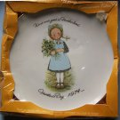 "HOLLY HOBBIE MOTHER'S DAY 1974 10"" DECORATIVE PLATE MIB"