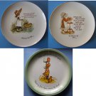 """(3) HOLLY HOBBIE MOTHER'S DAY  10"""" DECORATIVE PLATES"""