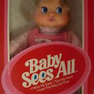 "IDEAL 1981 BABY  SEES ALL 12"" DOLL MOVES EYES & TURNS HEAD NRFB"