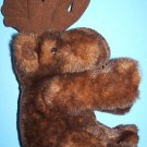 "13"" SITTING PLUSH MINK COLORED ADORABLE MOOSE  Purr-fection"