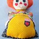 "VINTAGE RAGGEDY ANN   20""  X 12""      PANEL PILLOW DOLL"