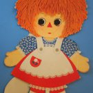 "23"" VINTAGE RAGGEDY ANN & ANDY STANDUP CARDBOARD CUTOUT"