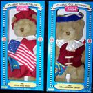 "HISTORICAL  PRESIDENTIAL & FIRST FLAG BEARS 16"" NRFB's"