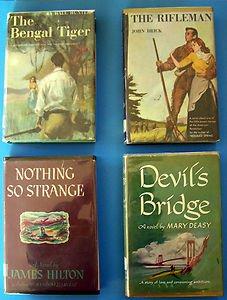 4 BOOKS:  DEVIL'S BRIDGE - NOTHING SO STRANGE - THE BENGAL TIGER - THE RIFLEMAN