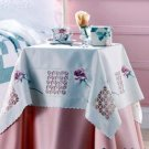 "ELEGANT ROSE TABLE CLOTH TOPPER 34"" Square  NEW"