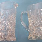 Set of 2 EARLY AMERICAN PRESCUT OATMEAL PINEAPPLE  PITCHERS