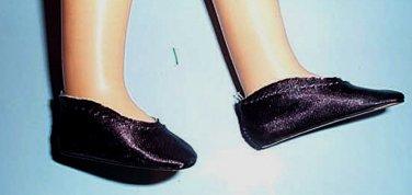 MA BLACK  SATIN  SLIPONS - Mint - FIT TONI