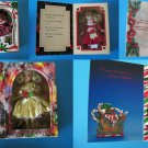 "(5) KEEPSAKE MARIE OSMOND CHRISTMAS GREETING CARDS & 6"" DOLLS in Window Boxes"