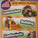DVD TRIPLE FEATURE CONSTRUCTION - BUILDING - LUMBAR JACK  w/TOY CAR MIP