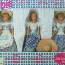 "4"" BARBIE COLLECTOR'S EDITION FIGURINE SET of 3  LITTLE DEBBIE NRFB"