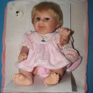 """16"""" DANEA FLORA GIRL  BABY DOLL JOINTED ALL VINYL WIGGED MIB REBORNING or PLAY"""
