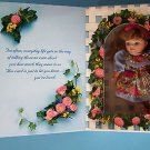 """MOTHER'S DAY GREETING CARD  DOLL   6"""" Brown Hair &  Blue Eyes 199 NRFB"""