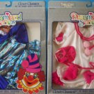 "(2) DREAMLAND SERIES CLOWN CLASSICS HOT PINK & BLUE  16-18"" BABY CPK 1986 NRFB"