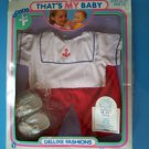 "THAT'S MY BABY 18-21"" NAUTICAL SAILOR FASHION PANTS SET 1988 TotsyNRFB"