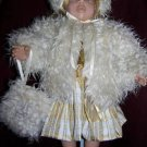 "18"" AMERICAN GIRL FUR COAT, CAP 7 MUFF fits other 18-19"" dolls"