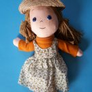 """Perfect Fall Decoration 16"""" Country Rag Doll Girl with Straw Hat  New"""