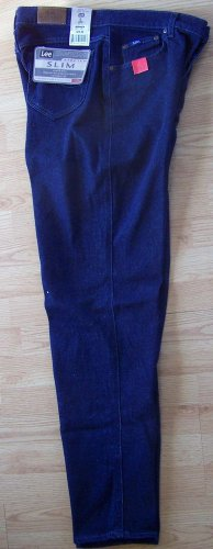 LEE STRETCH SLIM  5-POCKET ORIGINAL JEANS SIZE 16 lONG  New with all Tags