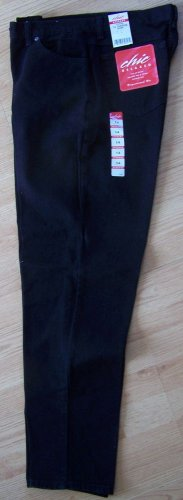 CHIC RELAXED JEANS Size 14 Average Proportioned Fit Black New with Tags