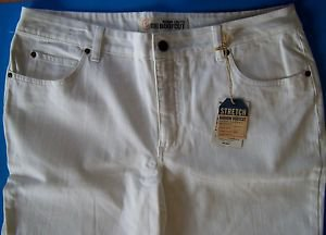 FADED GLORY NARROW-STRETCH BOOTCUT WHITE JEANS MODERN FIT Size 16 Avg NEW w/TAGS