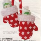 """MINI MITTENS 4 1/2"""" joined....For display, ornament or packing mini presents NEW"""
