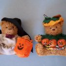 "5"" HALLOWEEN BEARS Set  of 2  Decoraion MIB NEW"