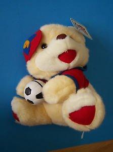 "10"" tall sitting Royal Plush SOCCER BEAR w/#9 CAP 2.5"" Soccer Ball NEW w/hangtag"