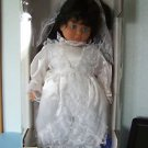 "1992 GERMAN LISSI GRACE 19""  BRIDE DOLL Black Hair Blue Eyes Ltd 1000 NRFB"