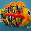 2001 SASSY FISH RIBBON BODY, POLKA DOT TAIL, ORANGE PLASTIC FINS OOAK